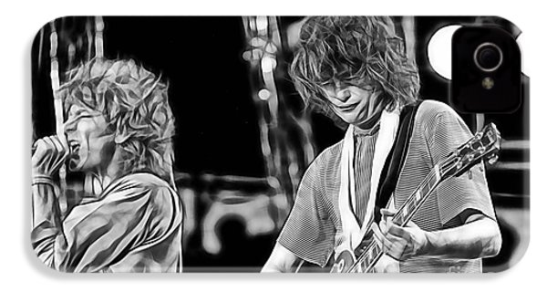 Robert Plant And Jimmy Page IPhone 4s Case by Marvin Blaine