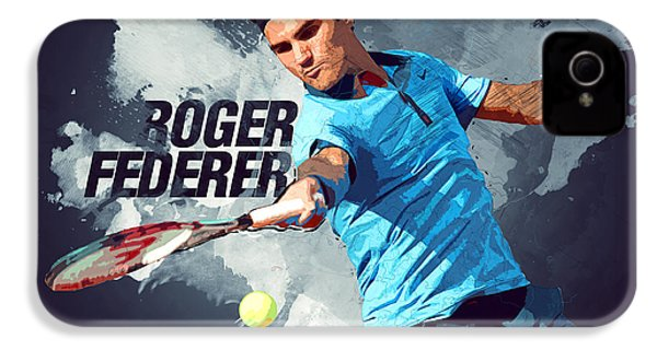 Roger Federer IPhone 4s Case by Semih Yurdabak