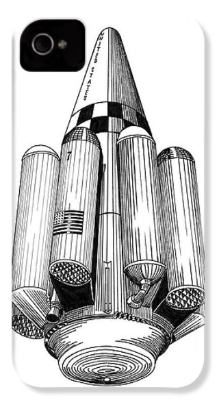 Rombus Heavey Lift Reusable Rocket IPhone 4s Case by Jack Pumphrey