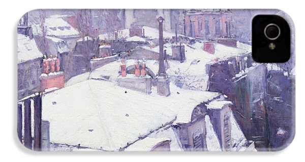 Roofs Under Snow IPhone 4s Case by Gustave Caillebotte