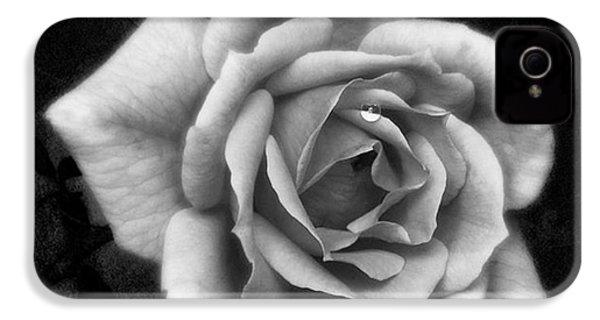 Rose In Mono. #flower #flowers IPhone 4s Case by John Edwards