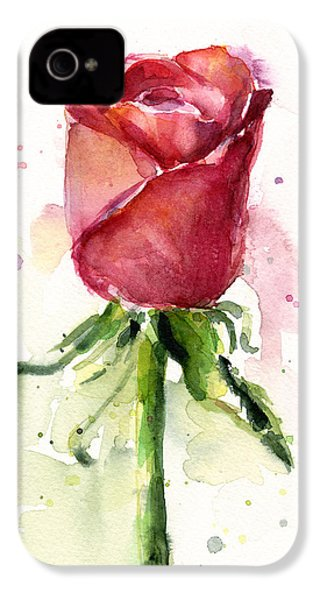 Rose Watercolor IPhone 4s Case