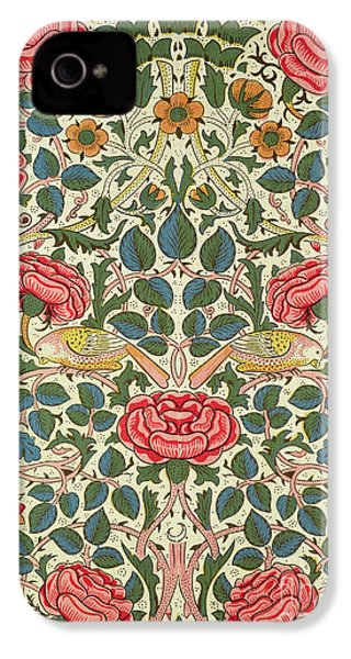 Rose IPhone 4s Case by William Morris