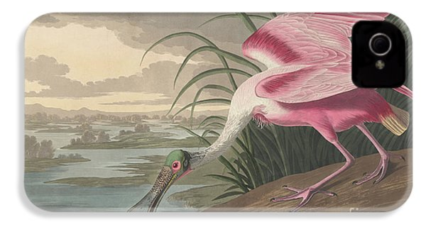 Roseate Spoonbill, 1836  IPhone 4s Case by John James Audubon