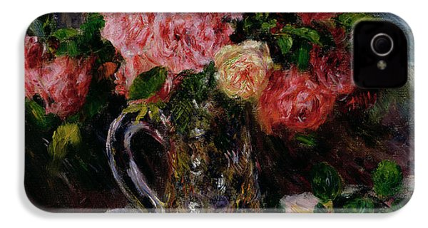 Roses IPhone 4s Case by Pierre Auguste Renoir