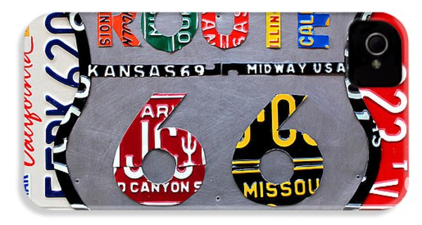 Route 66 Highway Road Sign License Plate Art IPhone 4s Case by Design Turnpike