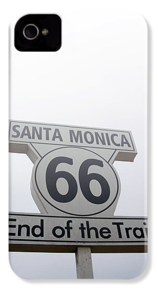 Route 66 Santa Monica- By Linda Woods IPhone 4s Case by Linda Woods