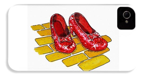Ruby Slippers The Wizard Of Oz  IPhone 4s Case by Irina Sztukowski