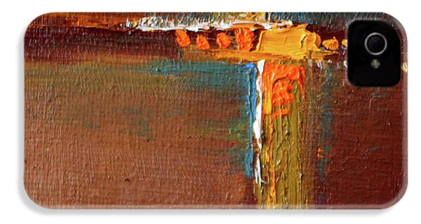 Rust Abstract Painting IPhone 4s Case by Nancy Merkle