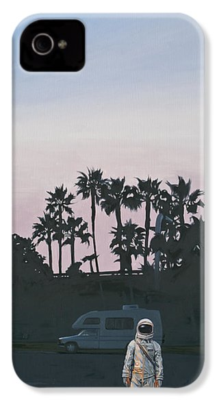 IPhone 4s Case featuring the painting Rv Dusk by Scott Listfield