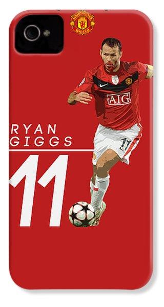 Ryan Giggs IPhone 4s Case by Semih Yurdabak