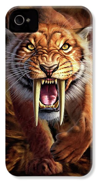 Sabertooth IPhone 4s Case by Jerry LoFaro