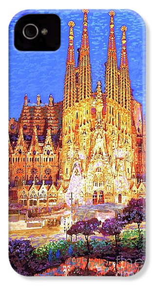 Sagrada Familia At Night IPhone 4s Case by Jane Small