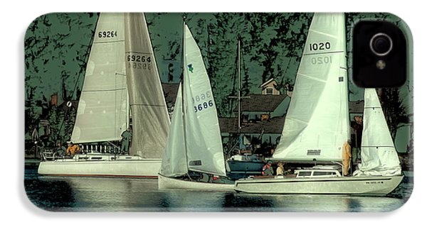 IPhone 4s Case featuring the photograph Sailing Reflections by David Patterson