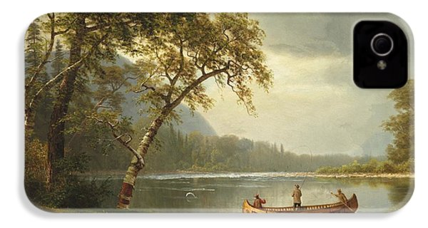 Salmon Fishing On The Caspapediac River IPhone 4s Case by Albert Bierstadt