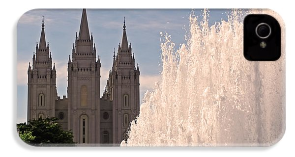 Salt Lake Temple And Fountain IPhone 4s Case