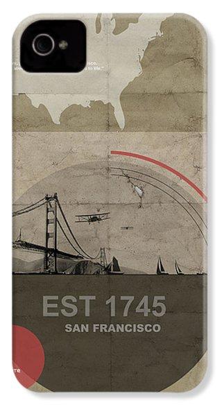 San Fransisco IPhone 4s Case by Naxart Studio