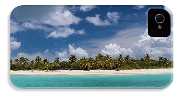 IPhone 4s Case featuring the photograph Sandy Cay Beach British Virgin Islands Panoramic by Adam Romanowicz