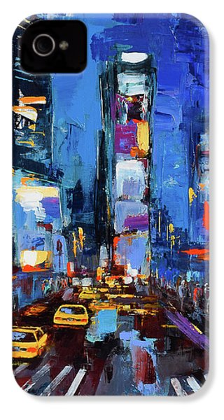 Saturday Night In Times Square IPhone 4s Case by Elise Palmigiani