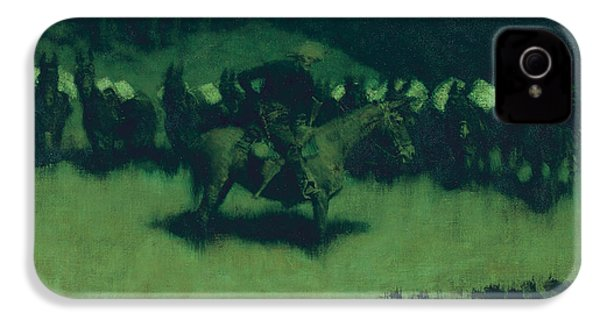 Scare In A Pack Train IPhone 4s Case by Frederic Remington