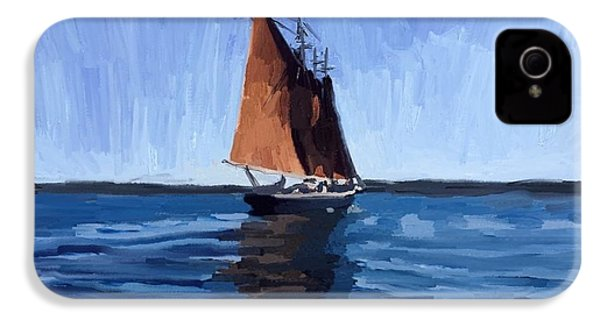 Schooner Roseway In Gloucester Harbor IPhone 4s Case by Melissa Abbott