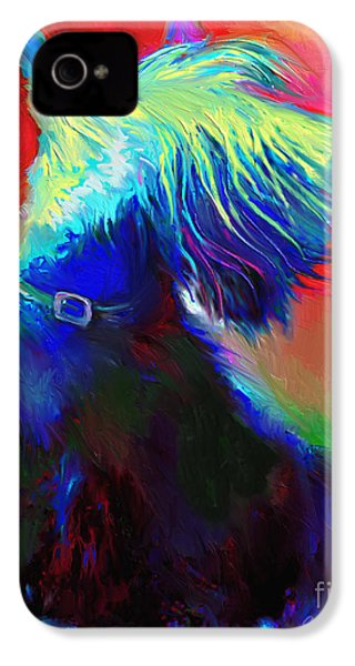 Scottish Terrier Dog Painting IPhone 4s Case