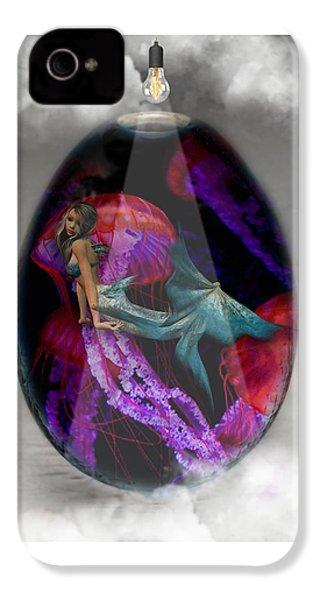 Sea Creature Mermaid Jellyfish Art IPhone 4s Case