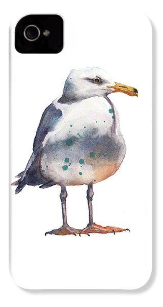 Seagull Print IPhone 4s Case by Alison Fennell