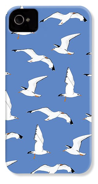 Seagulls Gathering At The Cricket IPhone 4s Case by Elizabeth Tuck