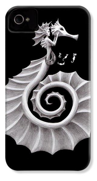 Seahorse Siren IPhone 4s Case by Sarah Krafft
