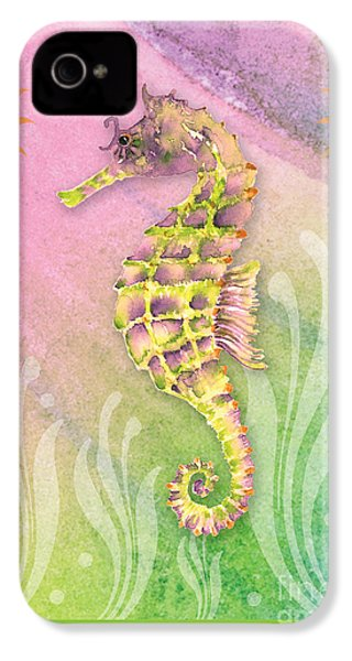 Seahorse Violet IPhone 4s Case by Amy Kirkpatrick