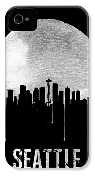 Seattle Skyline Black IPhone 4s Case