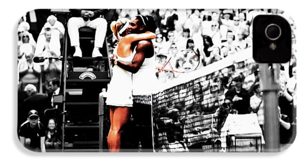 Serena Williams And Angelique Kerber 1a IPhone 4s Case by Brian Reaves