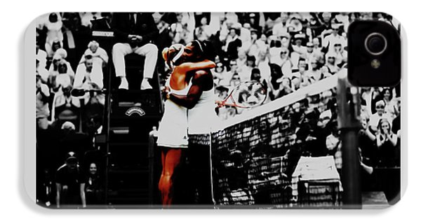 Serena Williams And Angelique Kerber IPhone 4s Case by Brian Reaves
