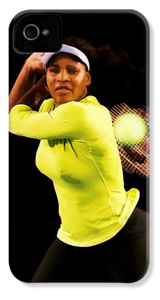 Serena Williams Bamm IPhone 4s Case by Brian Reaves
