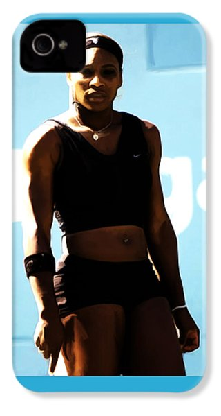 Serena Williams Match Point IIi IPhone 4s Case by Brian Reaves