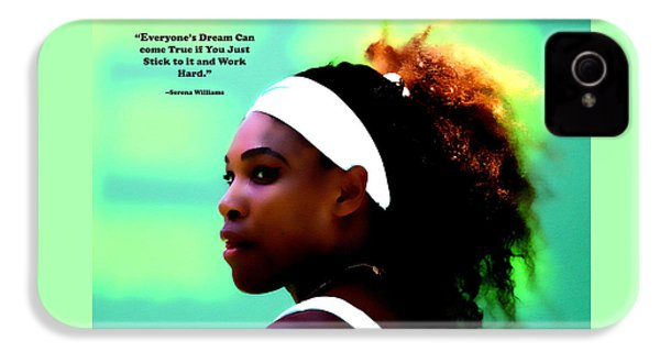 Serena Williams Motivational Quote 1a IPhone 4s Case by Brian Reaves
