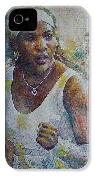 Serena Williams - Portrait 5 IPhone 4s Case by Baresh Kebar - Kibar