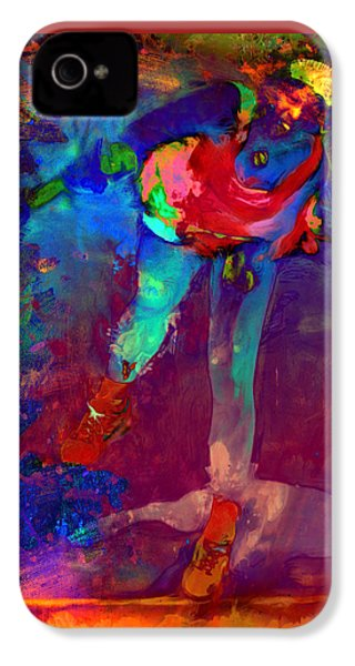 Serena Williams Return Explosion IPhone 4s Case by Brian Reaves