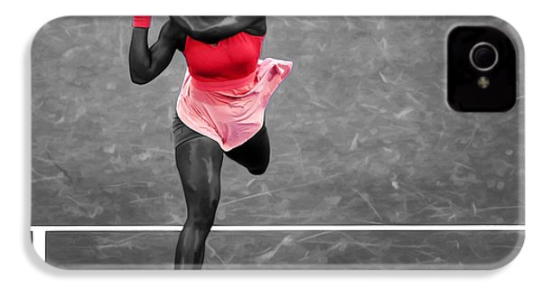 Serena Williams Strong Return IPhone 4s Case by Brian Reaves