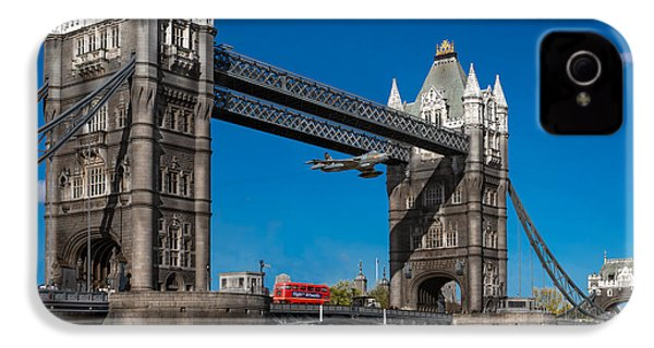 IPhone 4s Case featuring the photograph Seven Seconds - The Tower Bridge Hawker Hunter Incident  by Gary Eason
