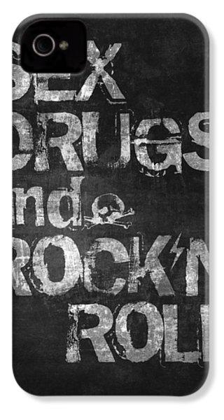 Sex Drugs And Rock N Roll IPhone 4s Case by Taylan Apukovska