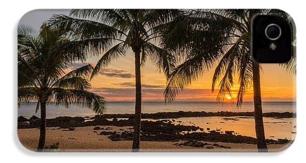 Sharks Cove Sunset 4 - Oahu Hawaii IPhone 4s Case