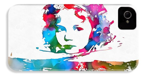 Shirley Temple Watercolor Paint Splatter IPhone 4s Case by Dan Sproul