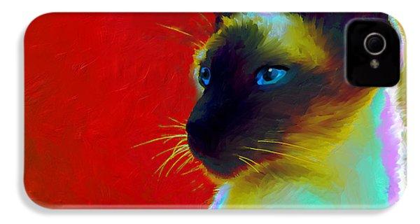 Siamese Cat 10 Painting IPhone 4s Case by Svetlana Novikova