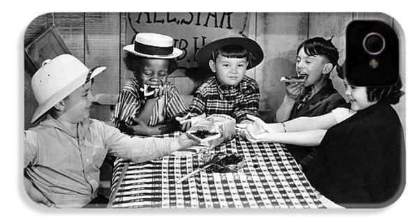 Silent Film: Little Rascals IPhone 4s Case by Granger