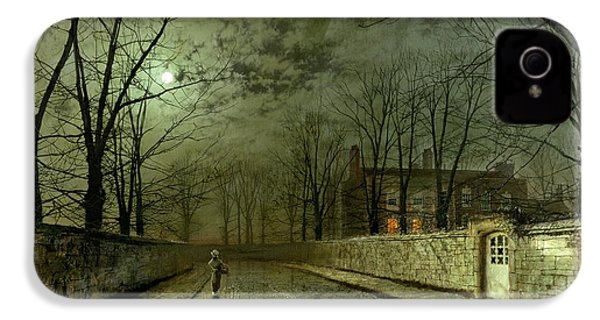Silver Moonlight IPhone 4s Case by John Atkinson Grimshaw