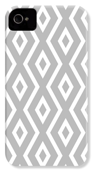 Silver Pattern IPhone 4s Case by Christina Rollo