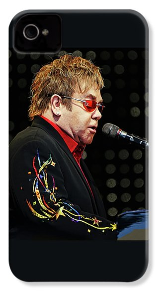 Sir Elton John At The Piano IPhone 4s Case by Elaine Plesser