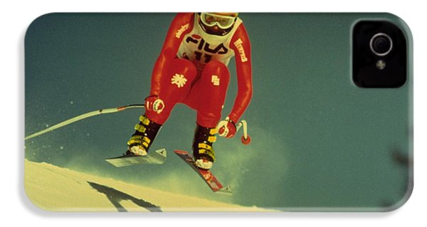IPhone 4s Case featuring the photograph Skiing In Crans Montana by Travel Pics